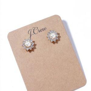 Jcrew small pearl flower earrings